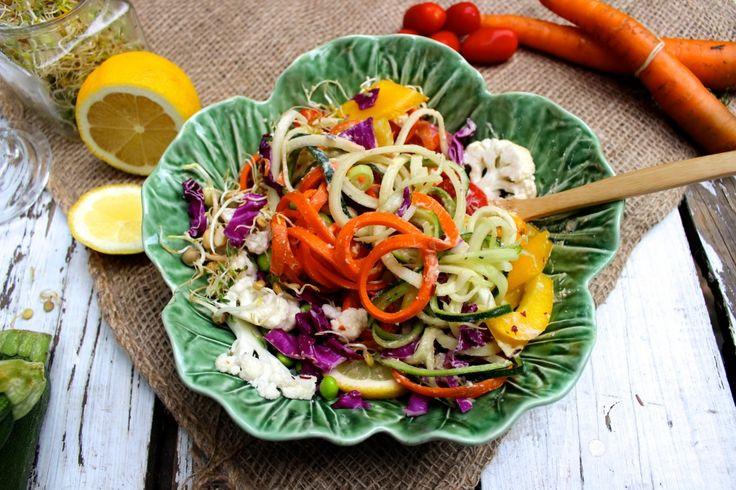 raw baba rainbow salad
