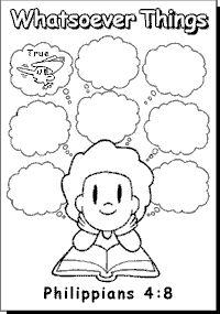 Phillipians 4:8 Drawing Activity