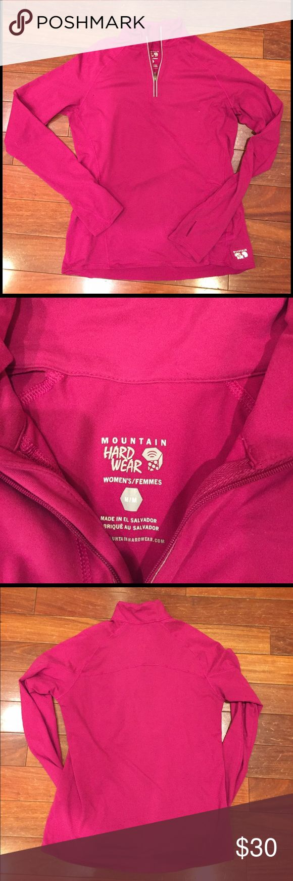 NWOT Mountain Hard Wear lightweight running top New without tags! No rips, holes, stains or pilling. 87% polyester and 13% elastaine beautiful berry color! Mountain Hard Wear Tops Sweatshirts & Hoodies