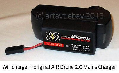 2000MaH Spare Upgrade Replacement Battery for Parrot AR Drone 2.0 - http://www.midronepro.com/producto/2000mah-spare-upgrade-replacement-battery-for-parrot-ar-drone-2-0/