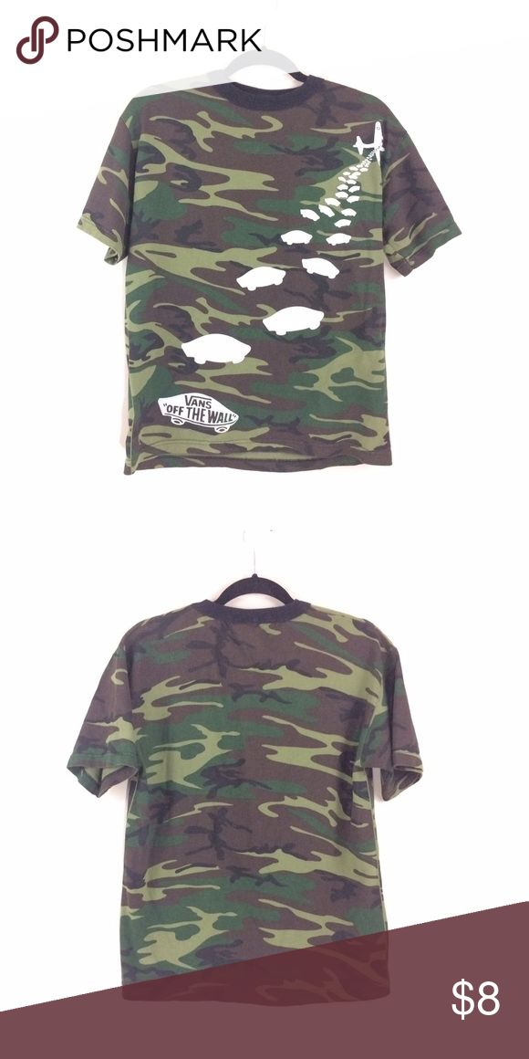 Vans Camo T-shirt - Medium Van Vans Shirts & Tops Tees - Short Sleeve
