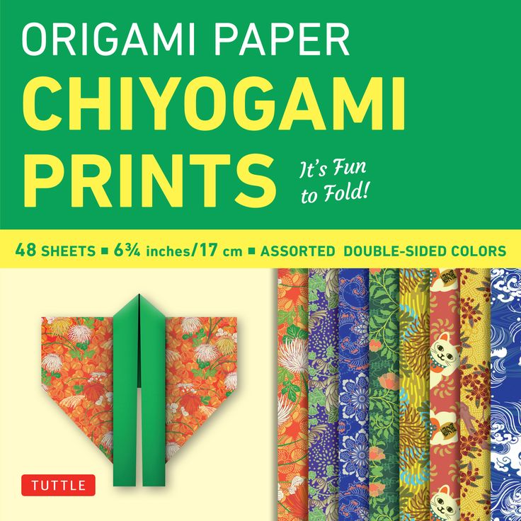 This origami pack contains 48 high-quality origami sheets printed with elegant and colorful chiyogami designs and patterns.   These classic Japanese chiyogami were chosen to enhance the creative work of origami artists and paper crafters. The pack contains 8 different designs, and there's enough paper here to assemble amazing modular origami sculptures, distribute to students for a class project, or put to a multitude of other creative uses.