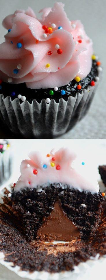Hershey Kiss Mini Valentine Cupcakes