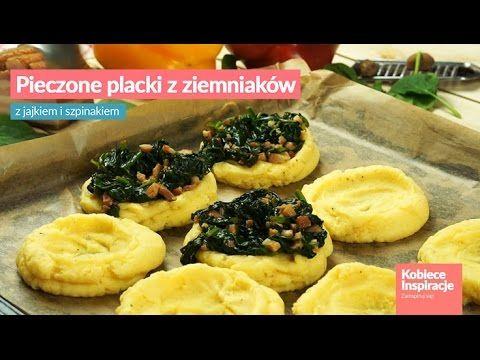 Pieczone placki z ziemniaków z jajkiem i szpinakiem Kobieceinspiracje.pl