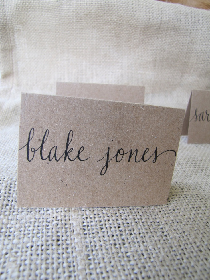 Wedding Name Place Table or Escort Cards Shabby Chic by RachelCarl, $1.00