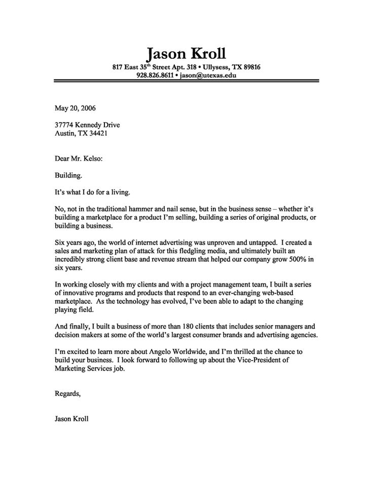 Cover Letter Layout. Sample Cover Letter Layout Cover Letter Sample ...
