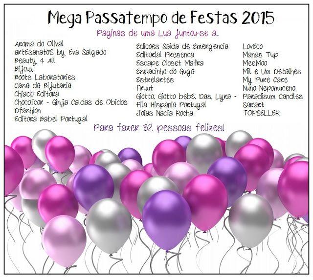 Páginas de uma Lua - O Diário de uma vida: Mega Passatempo de Festas 2015