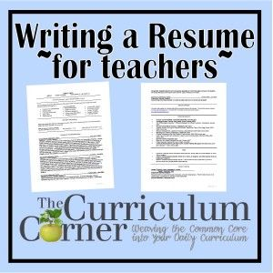 Writing Your Teacher Resume