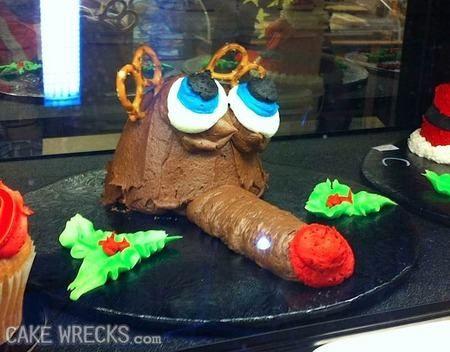 cake wreck reindeer cake