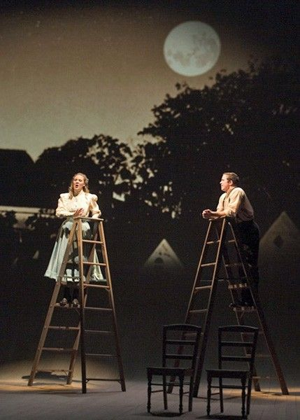 imaginative use of ladders - George and Emily in Thornton Wilder's OUR TOWN