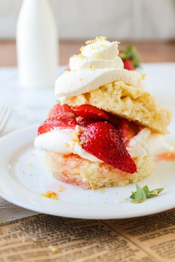Strawberry Lemon Shortcake #recipe from @foodcharlatan
