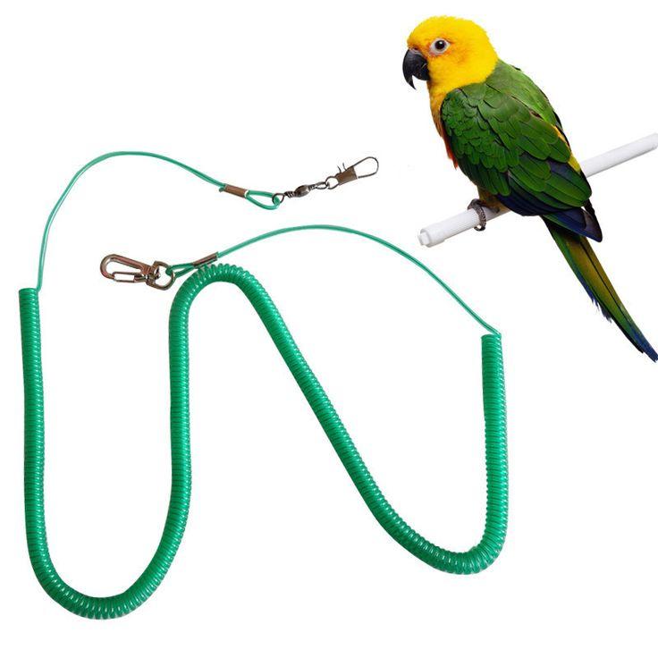רצועה לחיות מחמד אימון מעופף אנטי ביס חבל תוכי ציפור ערכות אספקת ציפור צעצועים לחיות מחמד נייד רך רצועה אקראי צבע לרתום