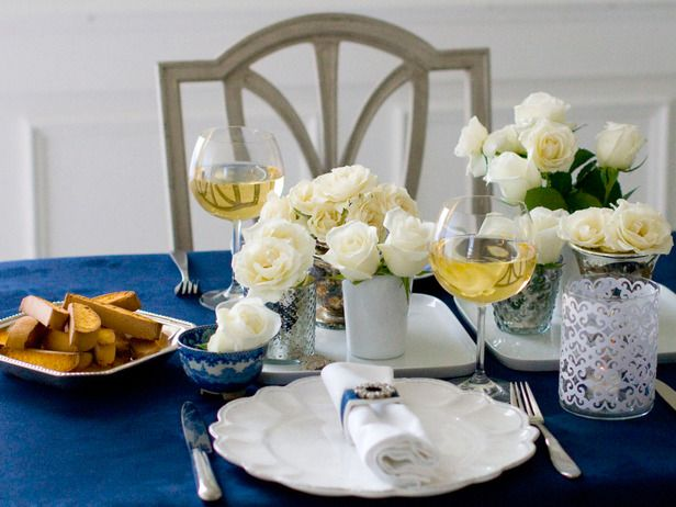 Set the Table in Simply Elegant Dinner Party from HGTV