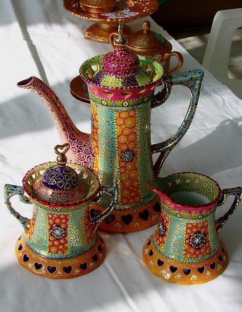 This would make my morning tea oh so much better! Bohemian Rhapsody Tea/Coffee Set