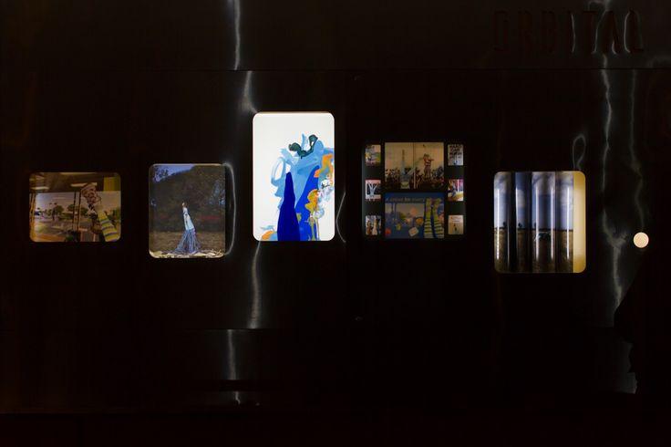 Three in One © 2015 Naomi Nicholls  Lightbox installation #painting