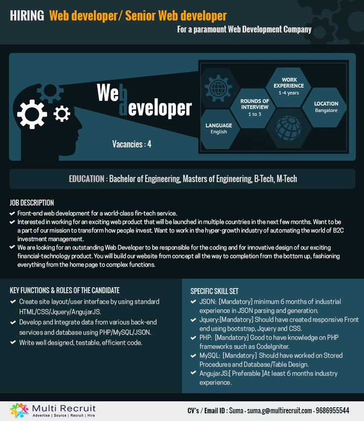 Oltre 25 fantastiche idee su Web developer cv su Pinterest Cv - web developer resumes