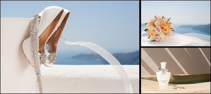 detail shot wedding in Santorini