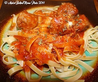 Sicilian Style Meatballs and Fettuccine