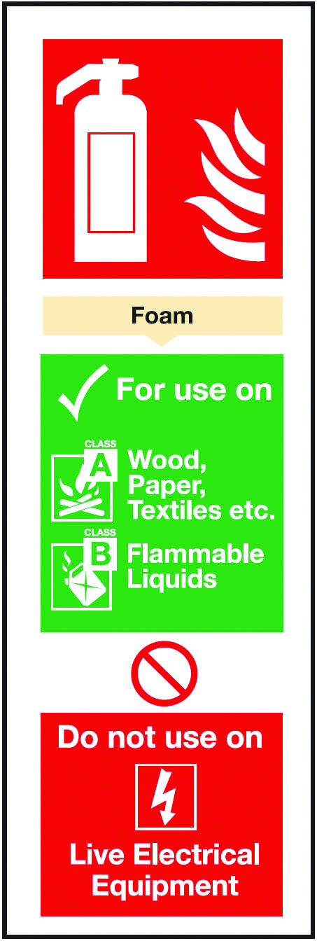 Foam extinguisher night glow.  Beaverswood - Identification Solutions