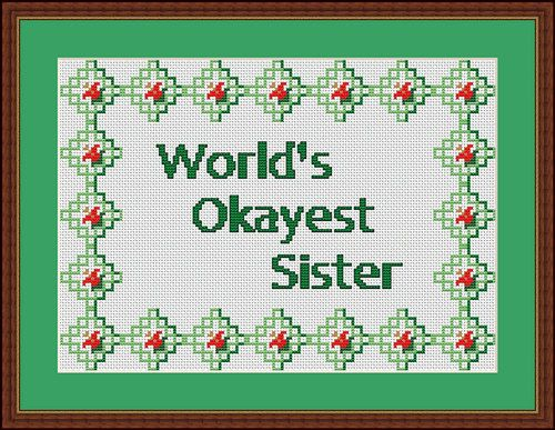 This mostly OK compliment. | 26 Bold Cross Stitches You Need For Your Home