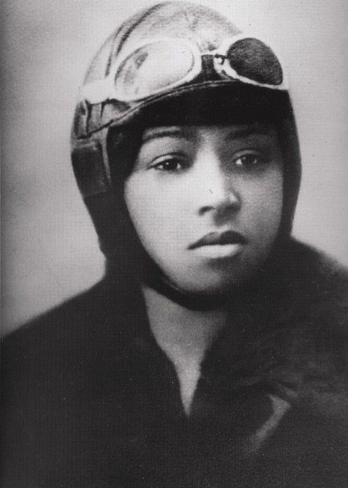 Bessie Coleman, the first African-American pilot, 15 June 1921