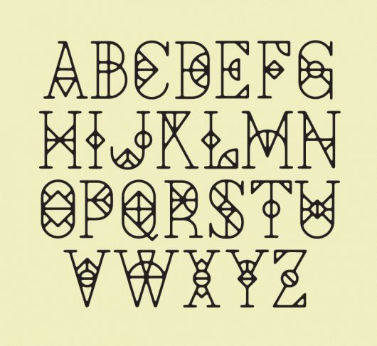 Cool typeface by David Mcleod
