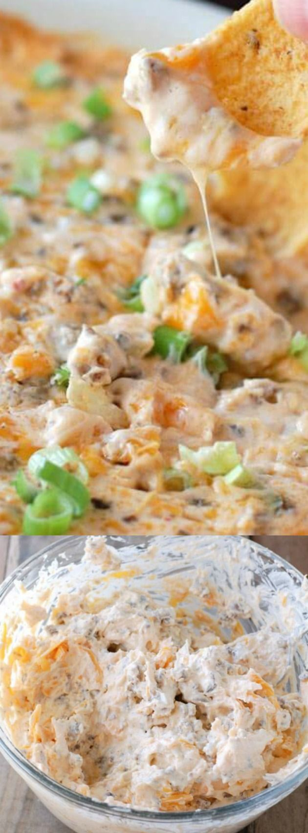 This Hot Sausage Beer Cheese Dip from Food Lovin' Family is the BEST appetizer EVER! It is filled with creamy, cheesy, sausage-y goodness that you are going to go crazy for.