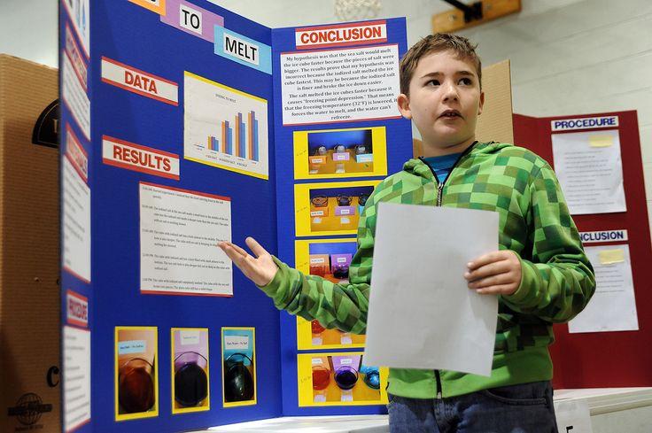 Fourth Grader Devyn Davis 10 Explains His Ice Project