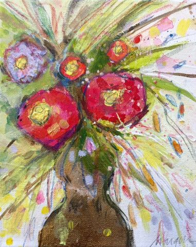Mixed Media Flowers by Marquin Campbell