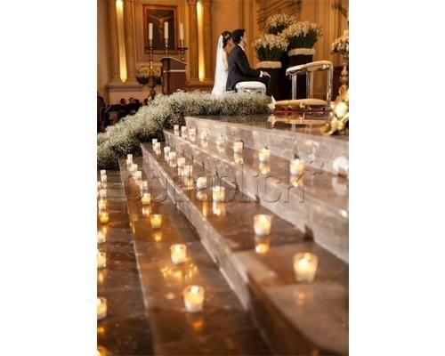 Camino al altar / decoración para la iglesia / boda