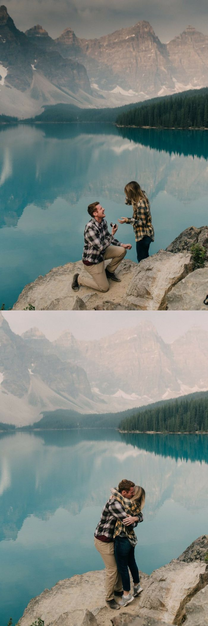 We're swooning over this romantic surprise proposal at Lake Louise, and their story is the sweetest.