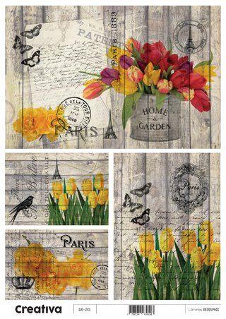Laminas para decoupage Creativa vintage 116-201  30 x 21 cm