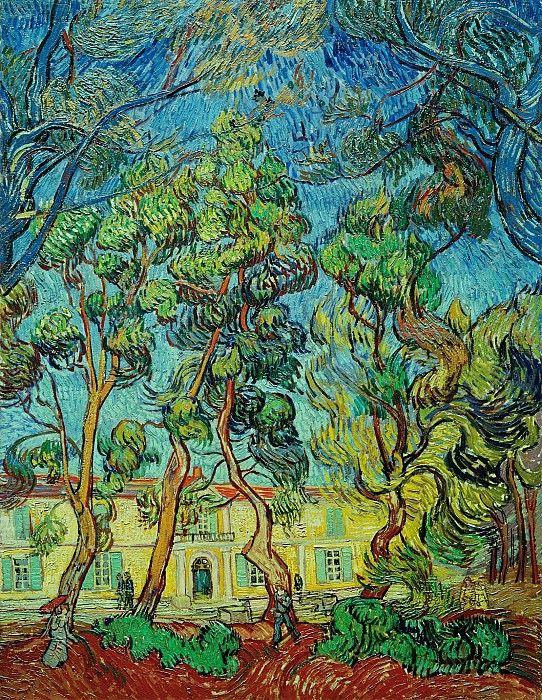 Сад лечебницы в Сен-Реми. Винсент Ван Гог