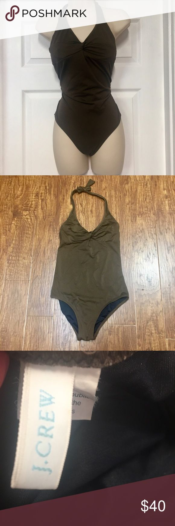 J. Crew brown one piece halter bathing suit size 6 Excellent preowned condition. J.Crew solid brown one piece halter bathing suit. Size 6 J. Crew Swim One Pieces