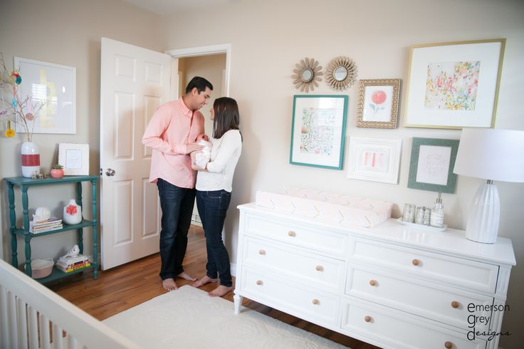 Coral and Teal - these are two very hot color trends in the nursery right now! #nursery