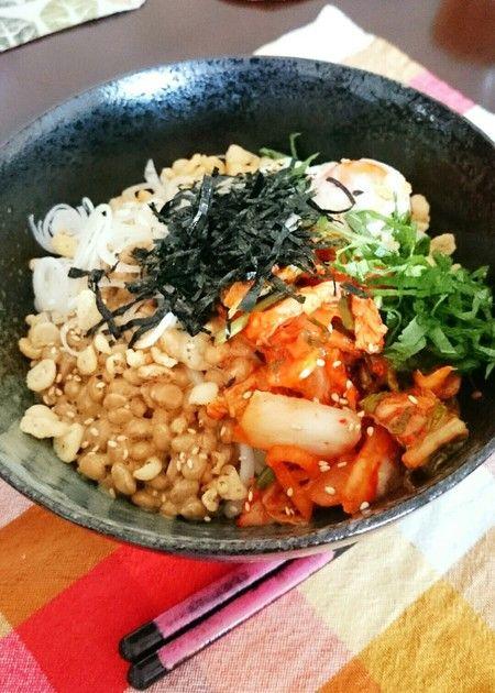 納豆&キムチの黄金コンビ第2弾レシピ。 100レポ達成ありがとうございます☆手間も時間もかけない簡単レシピ