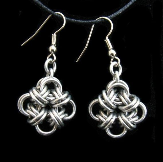 Bicubix Blocks Chainmaille Earrings