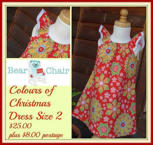 Handmade By Bear In A Chair Colours of Christmas Dress