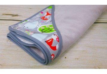 ALGAE & ORGANIC COTTON Joyfull Koala Baby blanket with smart pocket