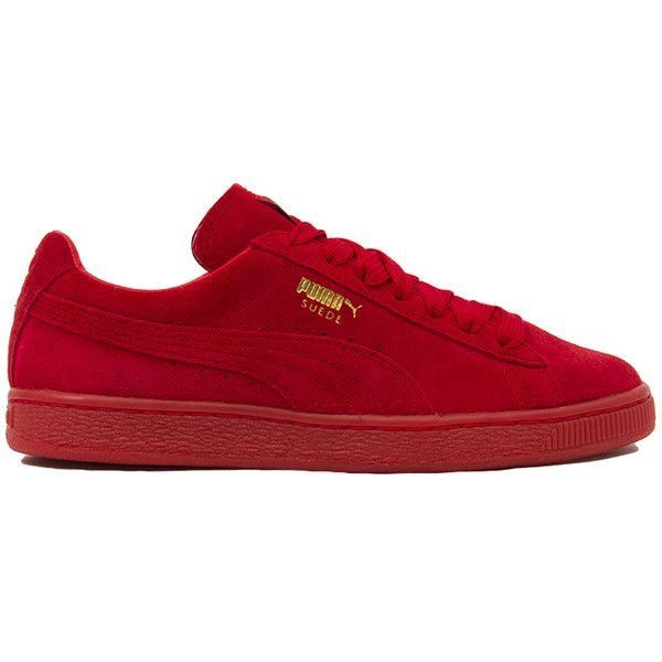 Red #Puma #sneakers #suede #classic