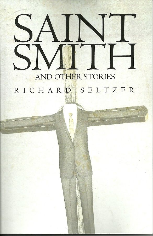 "Saint Smith and Other Stories by Richard Seltzer Two novellas and six short stories. ""Saint Smith"" focuses on Charlie, a would-be experimental film maker, Sarah his traditional Bible-believing mother, and Irene the clever ironic uninhibited German woman he marries. ""The Barracks"" takes place  in basic training at Fort Polk, Louisiana, at the time of the Viet Nam War. The six stories deal with puzzles of human nature and the meaning of life."