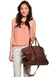 leather city bag