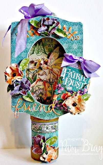 Scrapbook Flair: Pam Bray Designs: Fairy Dust Trinket Frame with Eileen Hull Inspiration Team
