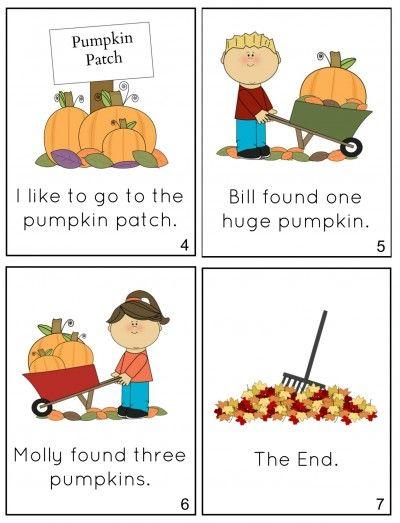 Free Printable Fall Minibook Kindergartenklub Com Pinterest