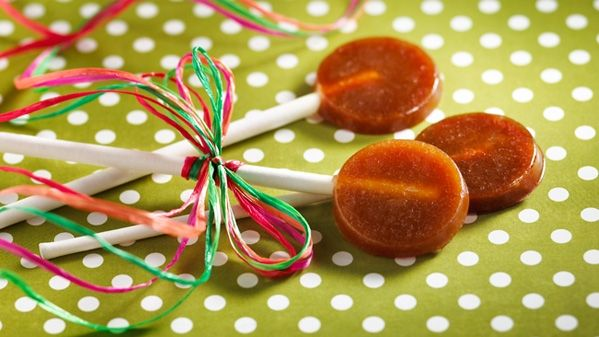 Louis XIV Maple Lollipops: Bring butter and maple syrup to a boil and boil until a candy - yum, yum!