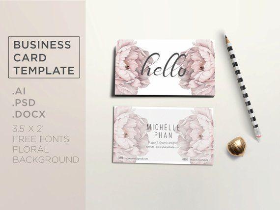 Floral Visitenkarte Vorlage Karte Vorlage Kundenspezifische