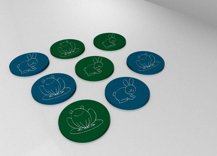 PEDINA è un sottobicchiere in ceramica venduto a coppia con diverse gamme di colori, su un lato ci sarà un disegno uguale all'altro che potrà essere utilizzato come gioco memory sia per i piccoli che per i grandi, oppure come pedina per un'eventuale scacchiera come per la playtable.
