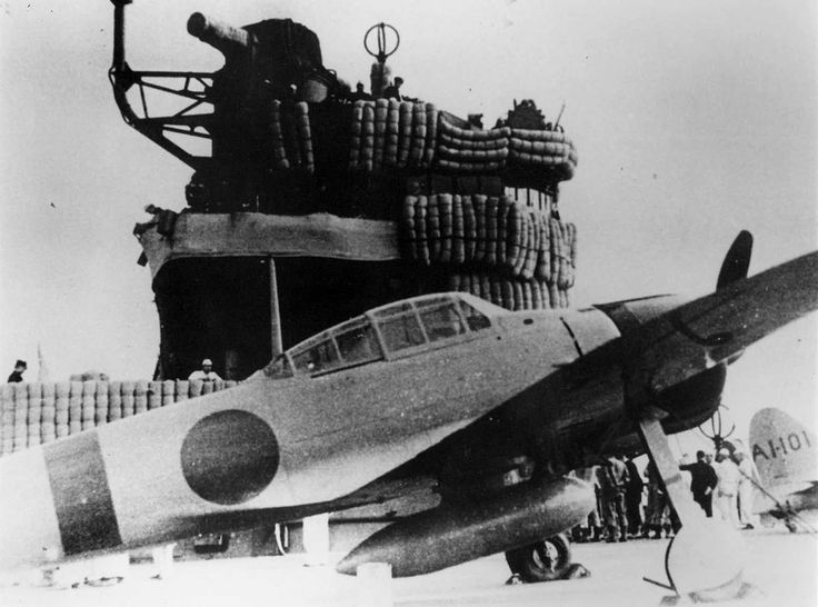An A6M-2 Zero fighter aboard the Imperial Japanese Navy carrier Akagi during the Pearl Harbor attack mission.