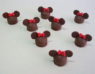 Bombones de Mickey y Minnie - Paso a paso