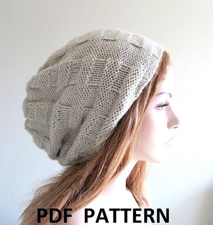 Digital PDF Knitting Pattern Instant Download Slouchy ...